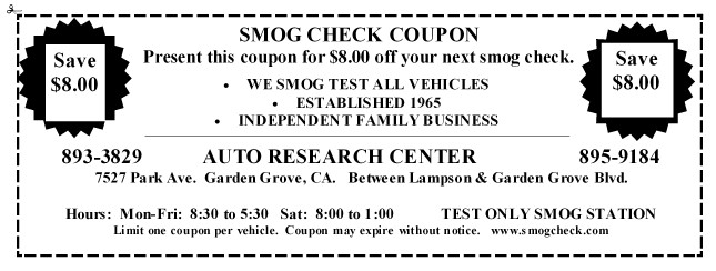 Orange County S Test Only Smog Check Center Star